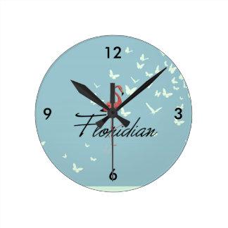 Horloge Ronde PIÈCE EN T de Floride