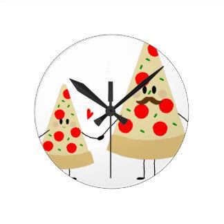 Horloge Ronde pizza de fête des pères