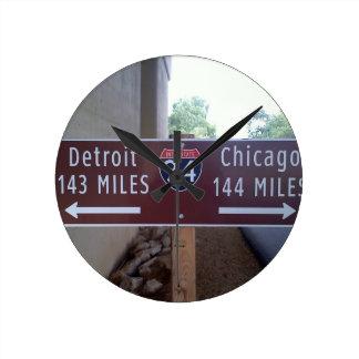 Horloge Ronde Point à mi-chemin, Detroit Chicago