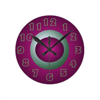 Horloge Ronde Pourpre et amusement de décor de concepteur