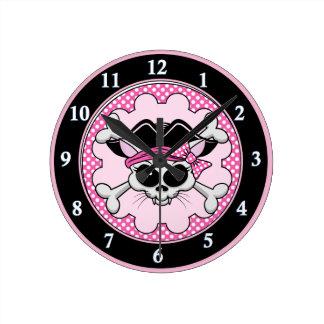 Horloge Ronde Princesse Kitty Skull de pirate