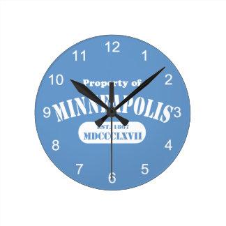 Horloge Ronde Propriété de Minneapolis