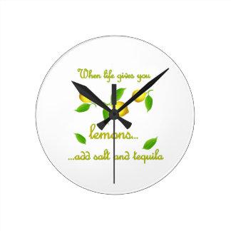 Horloge Ronde Quand la vie vous donne des citrons