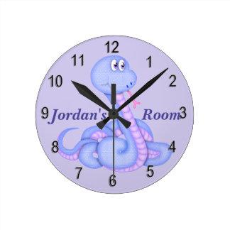 Horloge Ronde Serpent mignon de l'horloge de l'enfant