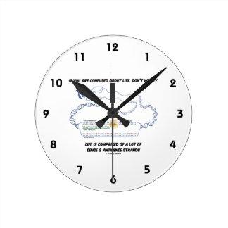 Horloge Ronde Si vous êtes confondus au sujet de la vie, ne vous