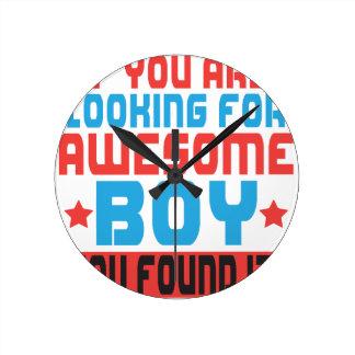 Horloge Ronde Si vous recherchez le garçon impressionnant, vous