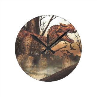 Horloge Ronde Survie de compte à rebours de dinosaure pour le