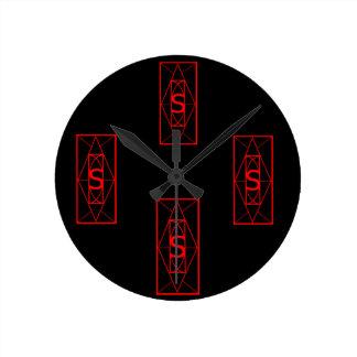 """Horloge Ronde """"Temps"""" antique Sigil"""