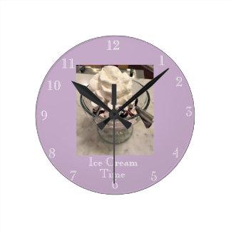 Horloge Ronde Temps de crème glacée