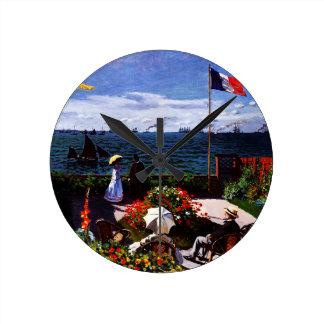 Horloge Ronde Terrasse de Claude Monet-The chez Sainte-Adresse
