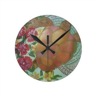 Horloge Ronde Tortue