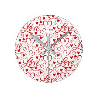 Horloge Ronde Toujours heure pour l'horloge d'amour (amour et