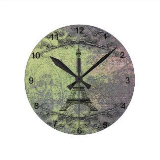 Horloge Ronde Tour Eiffel vintage