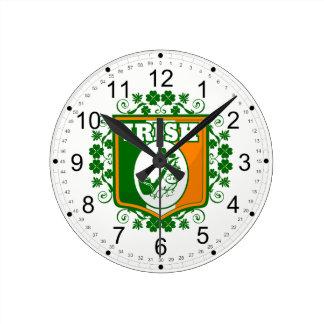Horloge Ronde Tuyau de Jour de la Saint Patrick