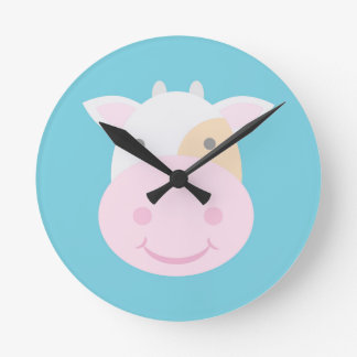Horloge Ronde Vache mignonne
