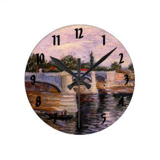 Horloge Ronde Van Gogh la Seine Pont del Grande Jette,