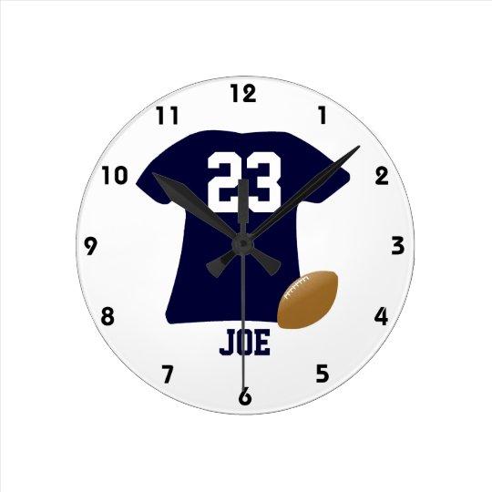 Horloge Ronde Votre chemise du football avec la boule