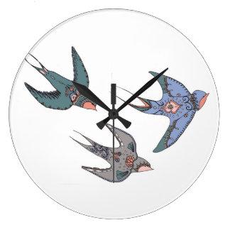 Horloge Swooping vite d'hirondelles