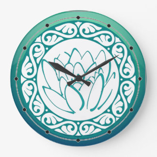 Horloge turquoise de Lotus