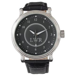 Horloge van het Monogram van het mannen het