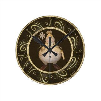 Horloge vintage lunatique chique de bonhomme de