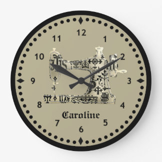 Horloge vintage noire et bronzage de machine à