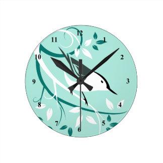 Horloges décoratives de sittelle blanche de