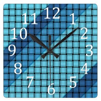 Horloges murales d'armure de panier de rayures