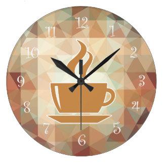 Horloges murales de cuisine de thème de café