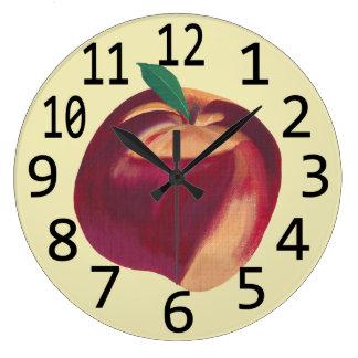 Horloges murales orientées de fruit mûr entier de