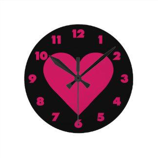 Horloges murales rouges de coutume de Valentine de