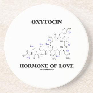Hormone d'oxytocine de l'amour (chimie) dessous de verre en grès