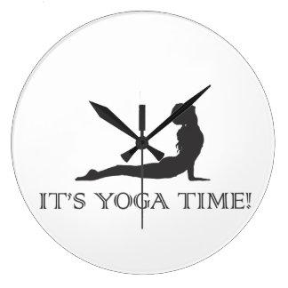 Horodateur de yoga grande horloge ronde