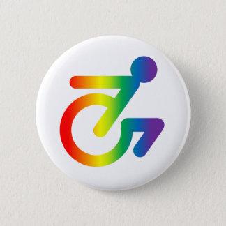 Horray pour les gens étranges dans les chaises ! badge rond 5 cm