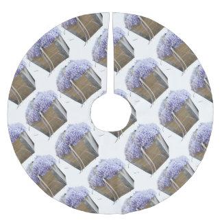 hortensia dans le vase jupon de sapin en polyester brossé