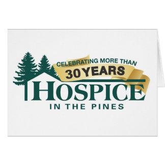 Hospice dans le bloc-notes de pins carte de correspondance