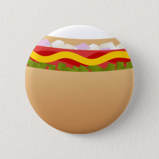 Hot-dog Badge Rond 5 Cm
