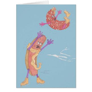 Hot-dog Doug et carte de Valentine de la poule