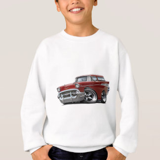 Hot rod 1957 de rouge foncé de nomade de Chevy Sweatshirt