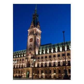 Hôtel de ville de Hambourg Carte Postale