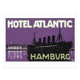 Hôtel Océan atlantique Hambourg Carte Postale
