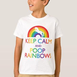 Houd de Eenhoorn van de Kalme en Regenbogen van T Shirt