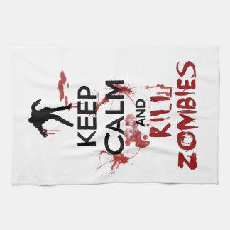Houd de Kalme en Zombieën van het Doden Keukenhanddoek