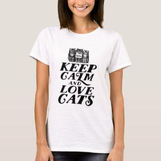 Houd de T-shirt van het Dierenvriend van de Kalme