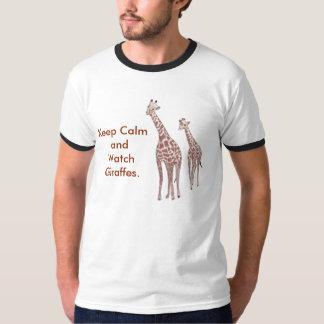 Houd de T-shirts van de Kalme en Giraffen van het