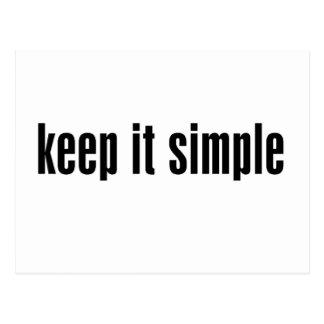 houd het eenvoudig aanpassen Product Briefkaart