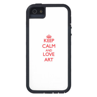 Houd het Kalme en Art van de Liefde iPhone 5 Cover
