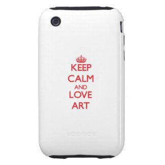 Houd het Kalme en Art van de Liefde iPhone 3 Tough Covers