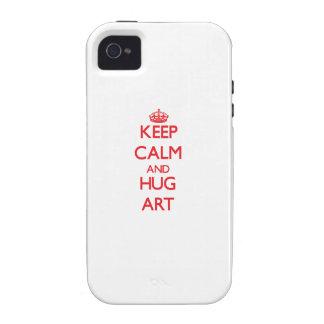 Houd het Kalme en Art van de OMHELZING Vibe iPhone 4 Cover