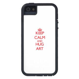 Houd het Kalme en Art van de OMHELZING iPhone 5 Covers